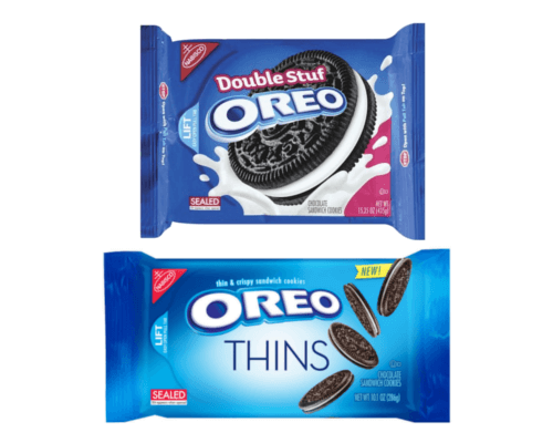 Different Packets of Oreo