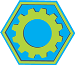 large cog, indicating reliability